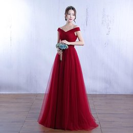 Wholesale Fabric Deco - Burgundy V neck Cap Sleeve A-Line Velvet Fabric Evening Dresses High Quality Charming Celebrity Gowns Prom Dress 2017