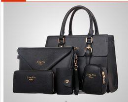 Wholesale Body Sets Brands - 2016 New 5 pcs women handbags set famous brand designer PU women bag set good quality shoulder bag women bags MU67