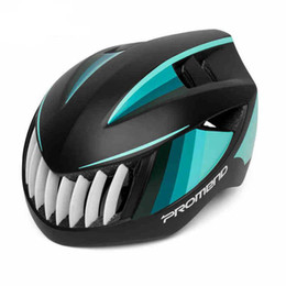 Wholesale Mountain Bike Women Helmets - Ultralight Bicycle Helmet Shark Cycling Helmet Men Women Light Mountain Road Bike Helmet 57-62CM Free Shipping