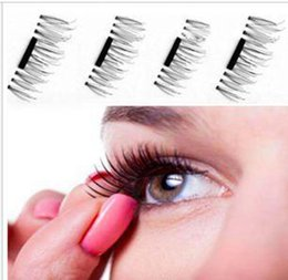 Wholesale Free 3d Hair - 3d Magnetic eyelashes Handmade Thick Eye Lashes Extension makeup Tools full Strip No gule magnet eyelashes free shipping