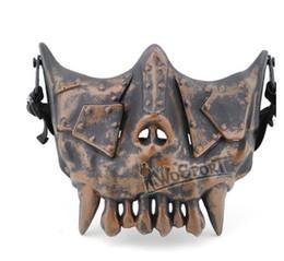 Schutzmaske militär online-WoSporT Wüsten Legion V3 Maske Half Face Stahl Net Airsoft Outdoor Spiel Militärische Nutzung Ausbildung Schutzmaske, Phantom trainingsmaske