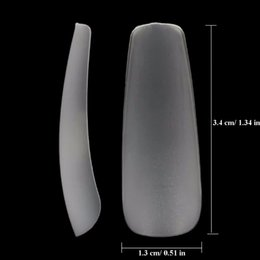 Wholesale Plastic Coffins - Makartt Clear Full Cover Acrylic False Nail Tips 360pcs box 12 Sizes Ultra Thin ABS material Coffin Shape False Tips A0488