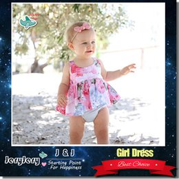 Wholesale Dresses Baby Cool - Girl's Dresses INS Summer Clothes Baby Kids Clothing Tank Top Flower Design Chiffon Cool Material Girl Tops DHL Free Shipping