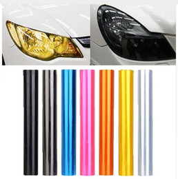 Wholesale Light Smoke Headlight Tint - 30cm x 120cm 7-Color Auto Car Tint Headlight Taillight Fog Light Vinyl Smoke Film Sheet Sticker Cover 12inch x 48inch