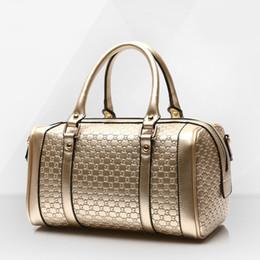 Wholesale Real Leather Shoulder Bag Messenger - Women Leather Composite bag Real Genuine leather Handbags Woman Vintage Hand bag Brands Ladies Black Shoulder bag