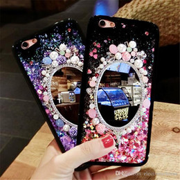 Wholesale Diamond Crystal Case Phone - For iPhone 7plus Cases Luxury Diamond Crystal Mirror Phone Case Rhinestone Cover For iphone 6Plus Case with diamond