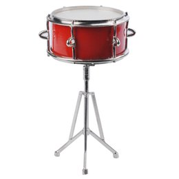 Wholesale Mini Drum Toy - Creative Hand-made Wooden Mini Instrument Red Drum Model Decoration Miniature Instrument Drum Toys