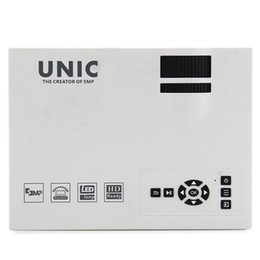 Wholesale Used Lcd Tvs - Wholesale- Home use mini LCD LED Pico Projector beamer UC40 UC40+ 800x480px 1200 lumens full HD 1080P for TV PC laptop Xbox smartphons