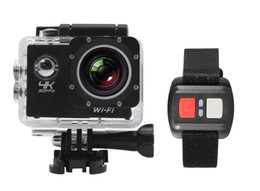 "Wholesale Zoom Camera Remote Control - 2017--4K Camera 2"" LCD Screen Wifi Action Camera 4X Zoom 16MP Sport Camera Waterproof 30M with Remote Control Multicolor"