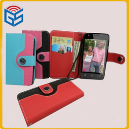 Wholesale Cheapest Leather Wallets - Mobile Phone Case Cheapest Mixed Color Design Wallet Leather Flip Cover For Digicel DL 1 DL1