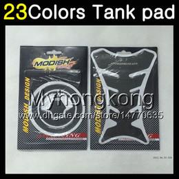 Wholesale Zx 12r - 23Colors 3D Carbon Fiber Gas Tank Pad Protector For KAWASAKI NINJA ZX12R 00 01 ZX 12 R 00-01 ZX 12R ZX-12R 2000 2001 3D Tank Cap Sticker