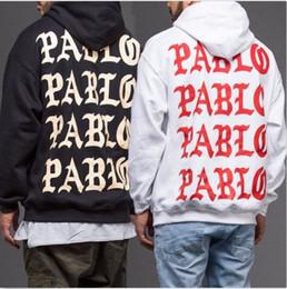 Wholesale Oversize Clothing - PABLO Hoodie Men Kanye West Sweatshirt Homme Hip hop Streetwear Oversize Hoodies Mens Brand Clothing Pablo Print Tracksuit