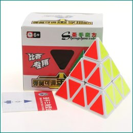 Wholesale Triangle Puzzle Cubes - 2017 Tetrahedron Triangle shaped cube Entry cube puzzle toys Competition Speed Puzzle Cubes Toys For Children Kids A17052721