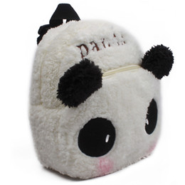 Wholesale Girls Backpacks Panda - Cute baby school bag lovely panda plush backpack for kindergarten boys girls kids gift