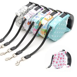 Wholesale Nylon Rope Free Shipping - 5 Meters Long Retractable Leash Lead Strap Dog Leash Rope Multicolor Automatic Adjustable Chain Free Shipping ZA3746