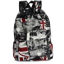 Wholesale Bp American - Fashion beige canvas double shoulder bag of European and American students backpacking school fashion school bag B01-BP-mzsjom
