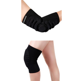 Wholesale motorcycle elbow protector - Wholesale- Elbow & Knee Pads Skiing Dancing Cycling Kneepads Mountain Bike Downhill Motorcycle Kneepads Guard Sponge Soft Elbow Protector