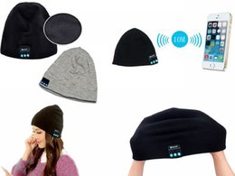 Wholesale Boxing Beanie - Bluetooth Beanie Knitted Winter Hat headset Hands-free Music Mp3 Speaker Mic Cap Magic Sport Hats With Retail Box