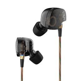 Cobres de auriculares online-KZ ATE Cobre Controlador HiFi Sport Auriculares Tapones para los oídos En el oído Auriculares Correr Heavy Bass Micrófono Música Envío rápido
