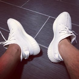 Wholesale Snow Fall Led - CP9366 Boost 350 V2 Triple White Kanye West SPLY-350 Boost Led Lighting Kanye SPLY Shoes Size 12 With Box
