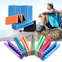 Wholesale chair cushion seat pad - 38*27cm Foldable Outdoor Camping Mat Seat Foam XPE Cushion Portable Waterproof Chair Picnic Mat Dampproof Pad CCA6565 50pcs