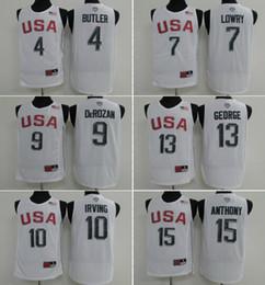 Wholesale Butler Jerseys - USA Dream Team Twelve 7 Lowry 9 DeRozan 11 Thompson 15 Anthony 13 George 14 Green 4 Butler 10 Irving 12 Cousins jersey
