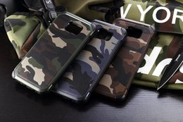 Wholesale Military Hard Case - Military Camo Hard Shockproof Case For Samsung Galaxy S7 S6 Edge Plus Camouflage Cover For Samsung Note 4 5 A3 A5 A7 J5 J7 2016