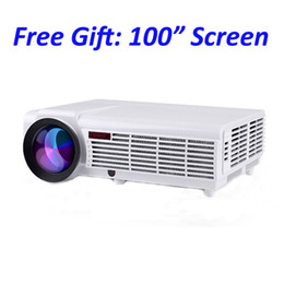 Wholesale Smart Beamer - Wholesale-5500 lumens smart lcd tv led projector full hd accessories 1920x1080 3d home theater projetor video proyector projektor beamer