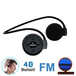 Wholesale Wireless Earphones For Radio - Mini503 Bluetooth 4.0 Headset Perfect Mini 503 Sport Wireless Headphones Music Stereo Earphones+Micro SD Card Slot+FM Radio 6B56