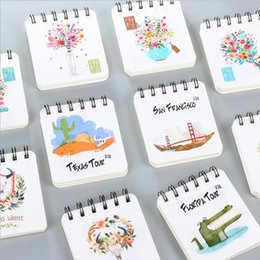 Wholesale Little Notebooks Wholesale - Wholesale- Cute Coil Blank Paper Notebook Korean Creative Little Portable Notepad Office School Schedule Pocket Book Kawaii Memo Planner