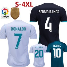 Wholesale Bale Real Madrid - Real madrid 2018 jerseys soccer RONALDO ASENSIO MODRIC soccer jersey football shirt BALE RAMOS BENZEMA Camiseta 17 18 real madrid maillot