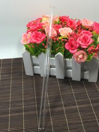 Wholesale Transparent Glasses Straws - Fashion Hot Reusable Wedding Birthday Party Clear Transparent Glass Drinking Straws Thick Straw Free Shipping ZA4038