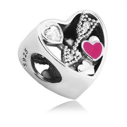 Deutschland Valentine Struck By Love Charms Bead Fit Brand Armband 925 Sterling-Silver-Jewelry Amor Pfeil Herz Perlen DIY Schmuck Zubehör supplier silver arrow bracelet charm Versorgung