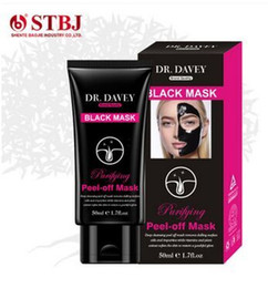 Wholesale Face Charcoal - 50ml Dr. DAVEY active bamboo charcoal black peel head mask Purify detoxification anti-wrinkle lift firming activating moist deep clean