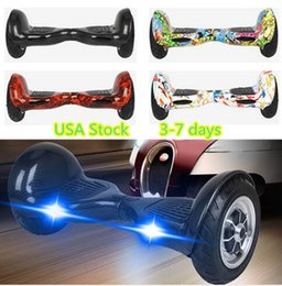 Wholesale Remote Skateboard - UL US Stock 10 inch LED Scooter Smart Hoverboard Bluetooth Remote Two Wheels Electric Scooters Self Balancing Wheel Skateboard Dropshipping