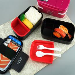 Boîte à lunch deux couches en Ligne-YGS-Y008 Boîte à lunch Bento deux couches Boîte à lunch de sushi BPA sans sucre Bento Vaisselle à vaisselle pour four à micro-ondes