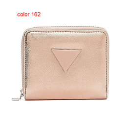 Wholesale Fresh Long - fashion women PU leather brand wallet short zipper purse European style new arrival Wallet-short