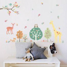 Riciclare gli adesivi online-2018 nuovi adesivi animali di arrivo eco-friendly per la decorazione camera bambini parete adesivi riciclati fai da te impermeabile