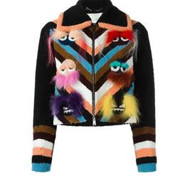 Wholesale Autumn Cashmere Sale - Hot sale US Autumn Women's colorful Monster Faux fur outwear Zipper Bird double face coats Runaway fox fur jackets