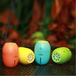 Wholesale Usb Charger Shapes - Homgeek 180ml Multifunctional Humidifier Portable USB Night Light Aroma Diffuser Lemon Shape Handy Mini Humidifier For Home