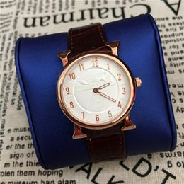 Wholesale Leather Items - Hot Items Business Man Watch women Wristwatch Genuine Leather Lover watch Gentleman Quartz Japan Movement Foreign trade sales Free shipping