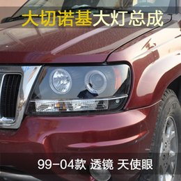 Wholesale Acura 99 - FOR Taiwan Xiushan SONAR Grand Cherokee JEEP angel eye lens modified xenon headlight assembly 99-04