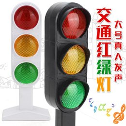 Wholesale Child Electric Cars - 1pcs Time-limited New Trains Slot Kid Juguetes Child Traffic Light Signal Lamp Toy Mini Cars Electric Railway Brinquedos