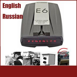 "Wholesale Car Radars - New 2017 E6 Cobra Car Radar Detector 1.5"" LCD Display Radar Laser Speed Detector With Russian Voice Support X K KU KA"