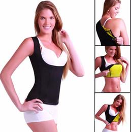 Wholesale Slimming Belt Vest - Neoprene Sauna Waist Trainer Vest Hot Shaper Summer Shaperwear Slimming Adjustable Sweat Belt Fajas Body Shaper 9067
