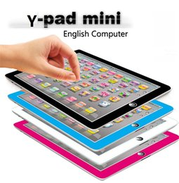 Wholesale Tablet Typing - newest Learning Toy game Tablet pad chinese English Computer Laptop Y Pad Kids Game Music Education Christmas Electronic Notebook B1116