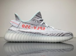 Wholesale Hi Box - With Box SPLY boost 350 V2 Blue Tint free shipping running shoes boost 350 Grey Three Hi-Res Red sneakers B37571 size US5-US13