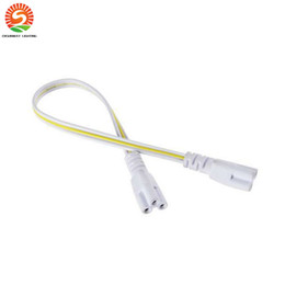 Wholesale 24 Pin Cable - Integrated Led Tubes Power Cable 2 Sides Pin 12 24 48 96 inch Wire Connector T8 Tube Connectors Tubes Link