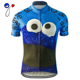 Wholesale Road Bike Xl - NEW 2017 cycling jersey Cookie Monster blue bike clothing wear riding MTB road ropa ciclismo cool classic NOWGONOW tour man cool
