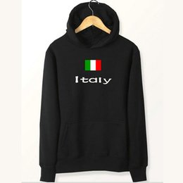 Wholesale polartec power dry - Italy flag hoodies Nation meet partner sweat shirts Country fleece clothing Pullover sweatshirts Outdoor sport coat Brushed jackets